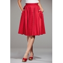 The peachy pleat skirt red
