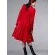 Cappotto rosso magenta