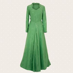Abito lungo verde Vintage anni '70