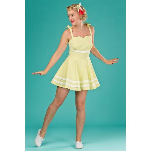 pretty nice fb0e3 99fdb Abito giallo limone stile tennis - unenouvellevie