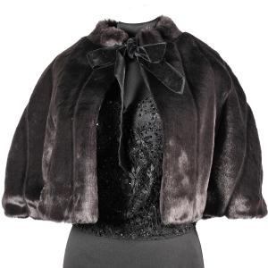 Mantellina in pelliccia ecologica in stile anni '50