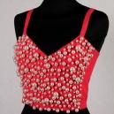 Corpetto Vintage rosso acceso anni '80