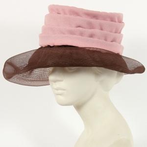 Cappellino Vintage anni '60 rosa