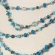 Collana Vintage perle azzurre