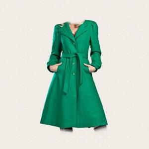 Cappotto verde smeraldo