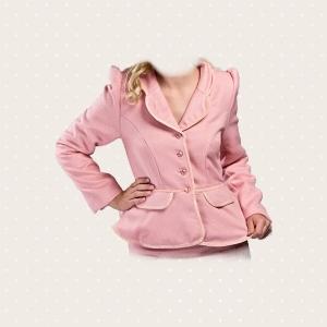 Giacca panno rosa